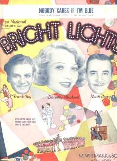 Bright Lights Sheet Music Noah Beery 1929