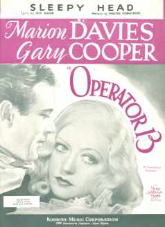 Gary Cooper Operator 13-Sleepy Head 1934