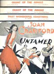 Joan Crawford UNTAMED 3 sheet musics 1929