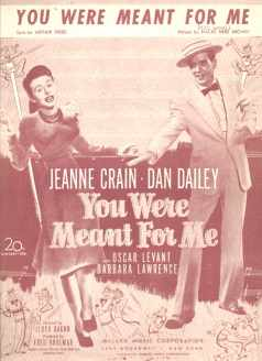 Dan Dailey 1929 You Were Meant for Me music