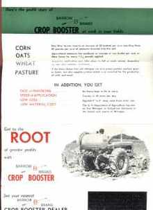 Barrow Brand Crop Booster 1950s Brochure