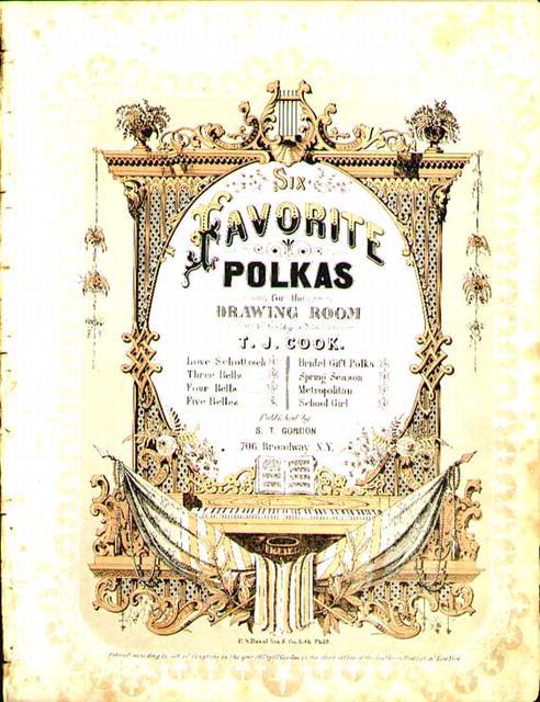 1863 Sheet Music Favorite Polkas TJ Cook
