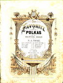 1863 Sheet Music Favorite Polkas TJ Cook