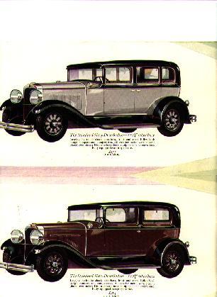 The Standard Six Five Passenger Sedans