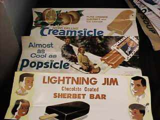 Popsicle Creamsicle Lightning Jim possters