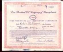 AMOCO 1952 Tire Warrenty Adjustment Agreement
