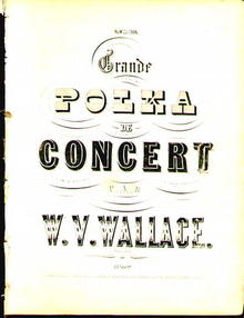 1850 Music Book Grand Polka Concert - Wallace