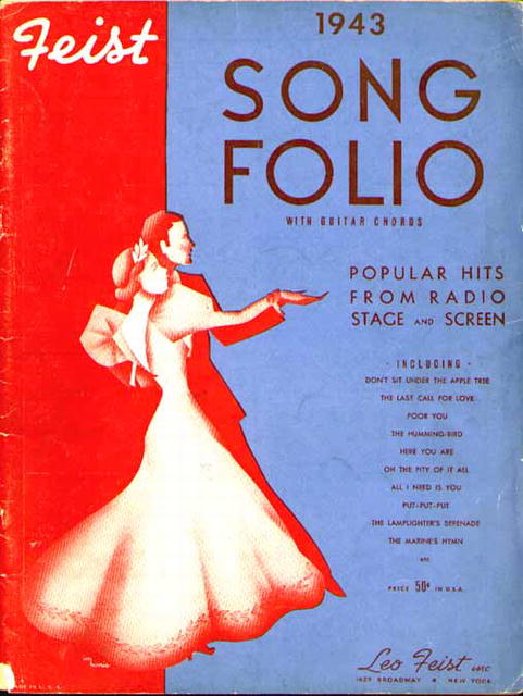 Feist 1943 Song Folio Radio Stage Movie Hits