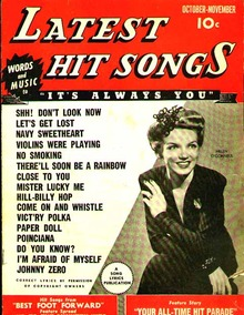Oct/Nov 1943 Latest Hit Songs Helen O'Connell