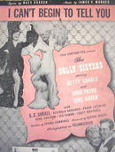 1945THE DOLLY SISTERS ICANT BEGIN TO TELL YOU