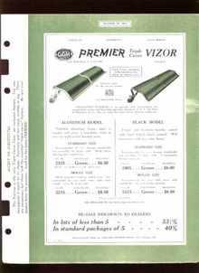 1925 Dealers Catalog Sheets Premier Vizor