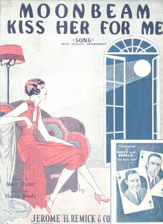 Moonbeam Kiss Her For Me 1927 Cover by Leff