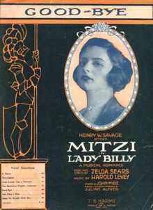 Mitzi in Lady Billy music for Good-Bye 1920