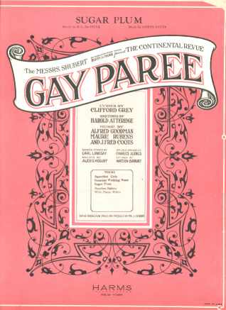 Sugar Plum from Gay Paree Musical Revue 1925