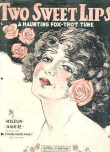1920 Two Sweet Lips fox trot Beautiful Cover!