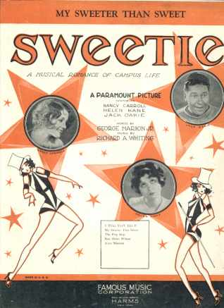 Jack Oakie Musical Sweetie 1929 My Sweeter...