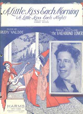 Rudy Vallee A Little Kiss Each Morning 1929