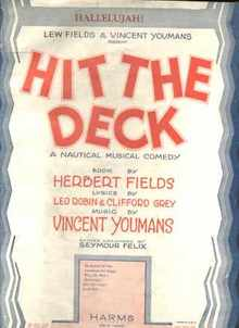 Hallelujah 1927 Musical Comedy Hit the Deck
