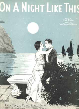 On A Night Like This 1925 Beautiful Cover Art