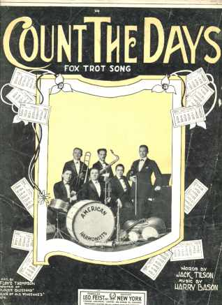 Count the Days Fox Trot 1922 Band Photo Cover