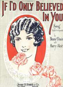 If I'd Only Believed In You 1926 Starmer art