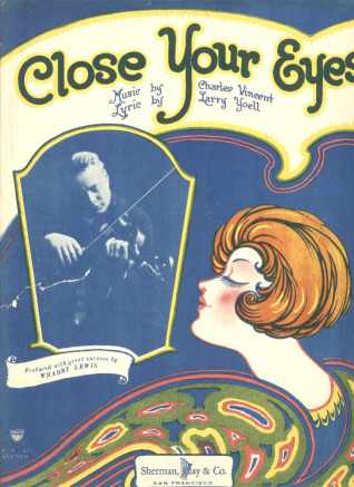 Close Your Eyes 1925 Beautiful Cover Art