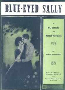 Blue-Eyed Sally 1924 Beautiful Art Cover