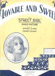 Lovable & Sweet from Street Girl 1929 Levant