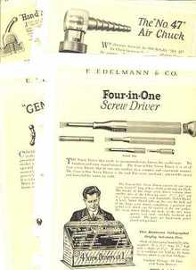 Great Mechanics Tools Catalog 44pp 1924-25