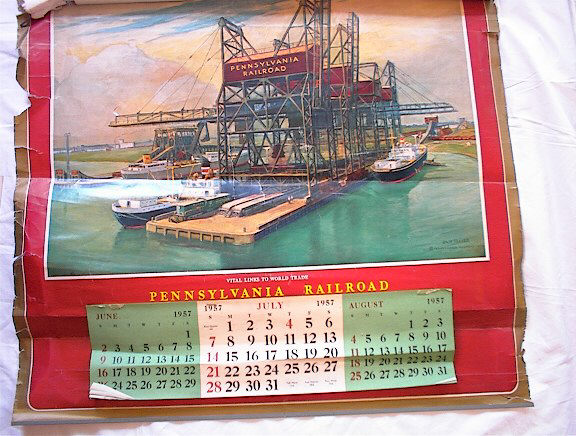 1957 PENNSYLVANIA RAIL ROAD CALENDER