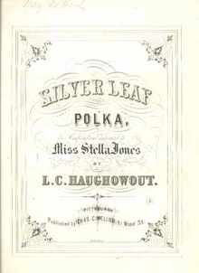 1868 Silver Leaf Polka published Pittsburgh
