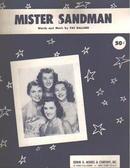 Mister Sanddman Pat Ballard 1954 Chordettes