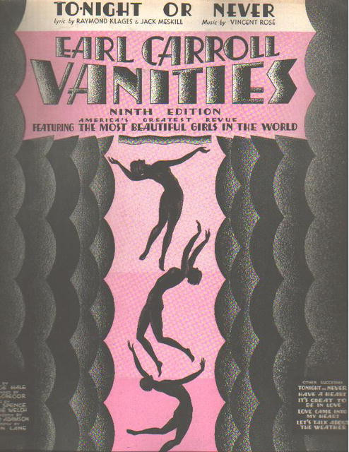Earl Carroll Vanities 1931 Tonight or Never