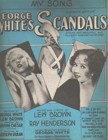 George Whites Scandals 1931 My Song