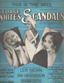 George Whites Scandals 1931 This is the Mrs.