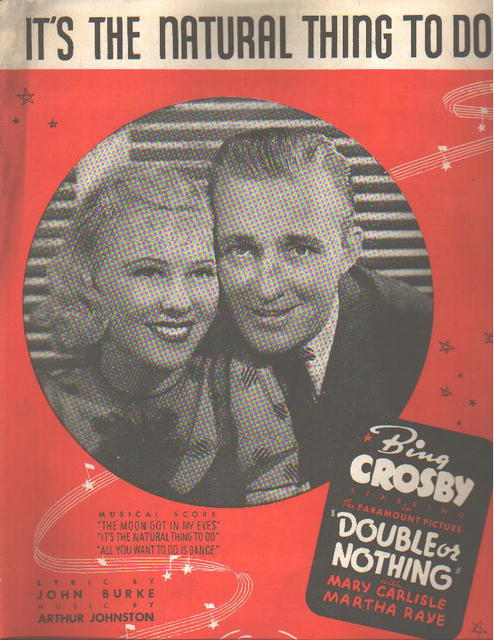Bing Crosby 1937 from movie Double or Nothing