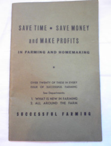 SAVE TIME-SAVE MONEY IN SUCCESSFUL FARMING