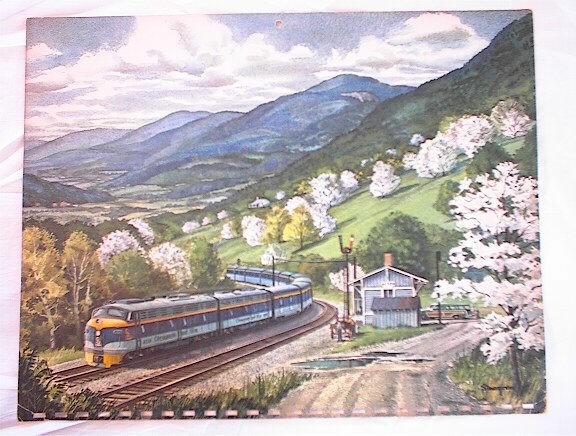 1961 CHESAPEAKE & OHIO RAILWAY CALENDER GREAT