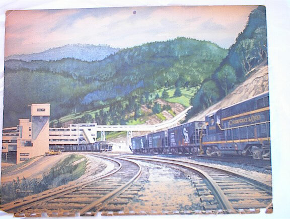 1961 CHESAPEAKE & OHIO TRAIN ILLUSTRATION