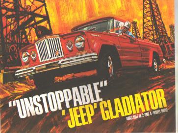 Jeep 3pc Advertising Set circa 1965 GREAT!
