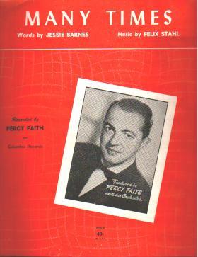 Many Times 1953 Percy Faith cover photo