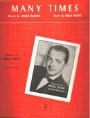 Many Times 1953 Percy Faith cover photo