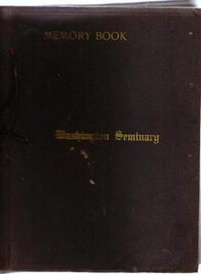 Wash. Seminary Ice Skating scrap book 1916-17