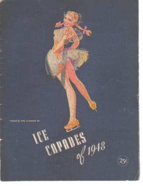 Petty Pin-Up Style Art Cover Ice Capades 1948