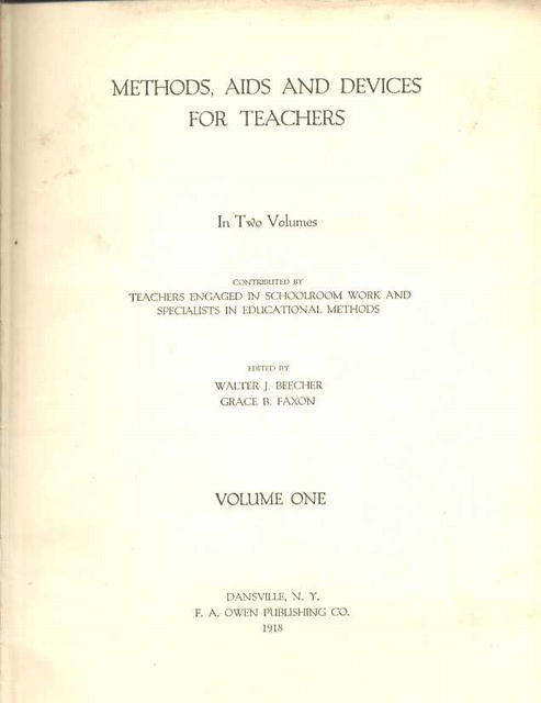 Methods Aids and Devices for Teachers/1918