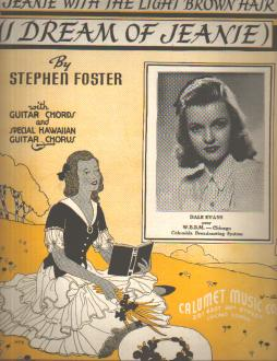 S Foster I Dream of Jeanie 1939 DALE EVANS
