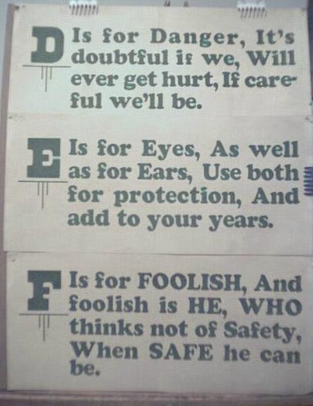 1928 Streetcar Safety Slogan Signs D E & F