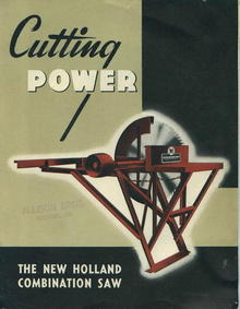 Ad/Brochure, The New Holland Combination Saw