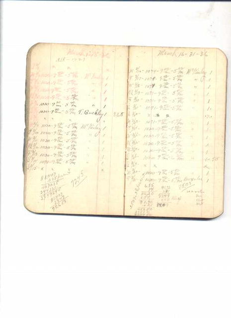 B&O Railroad Time book/1935-1940