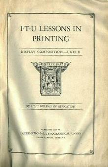 Lessons in Printing, Display Composition, '45